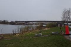 die Brücke der E4 in Kalix über den Fluß