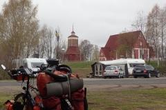 die Kirche von Kalix direkt hinter dem Campingplatz