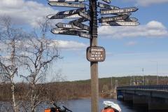 am Grenzfluß Muonioälven zu Finnland