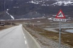 Achtung, Seitenwind auf den nächsten 72 km