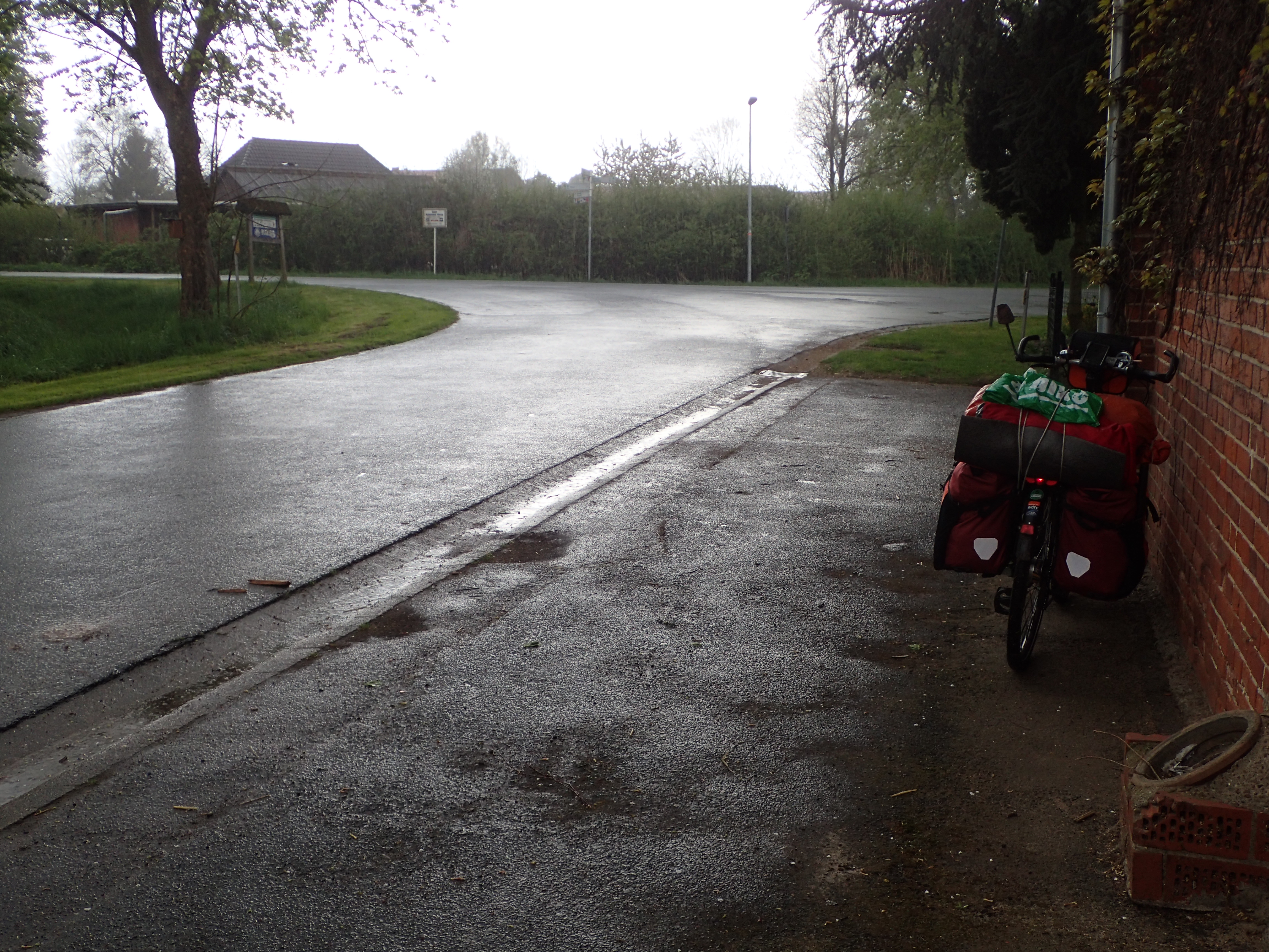 der erste kräftige Regenguß