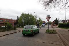 Rotenburg: hier hat eine reine Fahrradstrecke Vorfahrt!