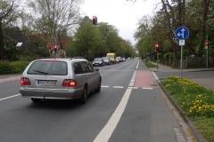 Rotenburg: Radstreifen an einer Hauptverkehrsstraße