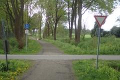 einfache Vorfahrt-Achten-Verkehrszeichen reichen auch aus