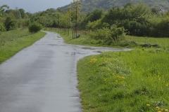 nach dem Regenschauer auf einem herrlichen Uferradweg