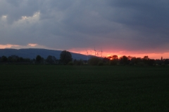 Kurz vor Hameln ging dann die Sonne unter