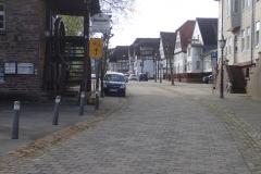 sehr gut ausgeschilderte Umleitung bei gesperrtem Weserradweg