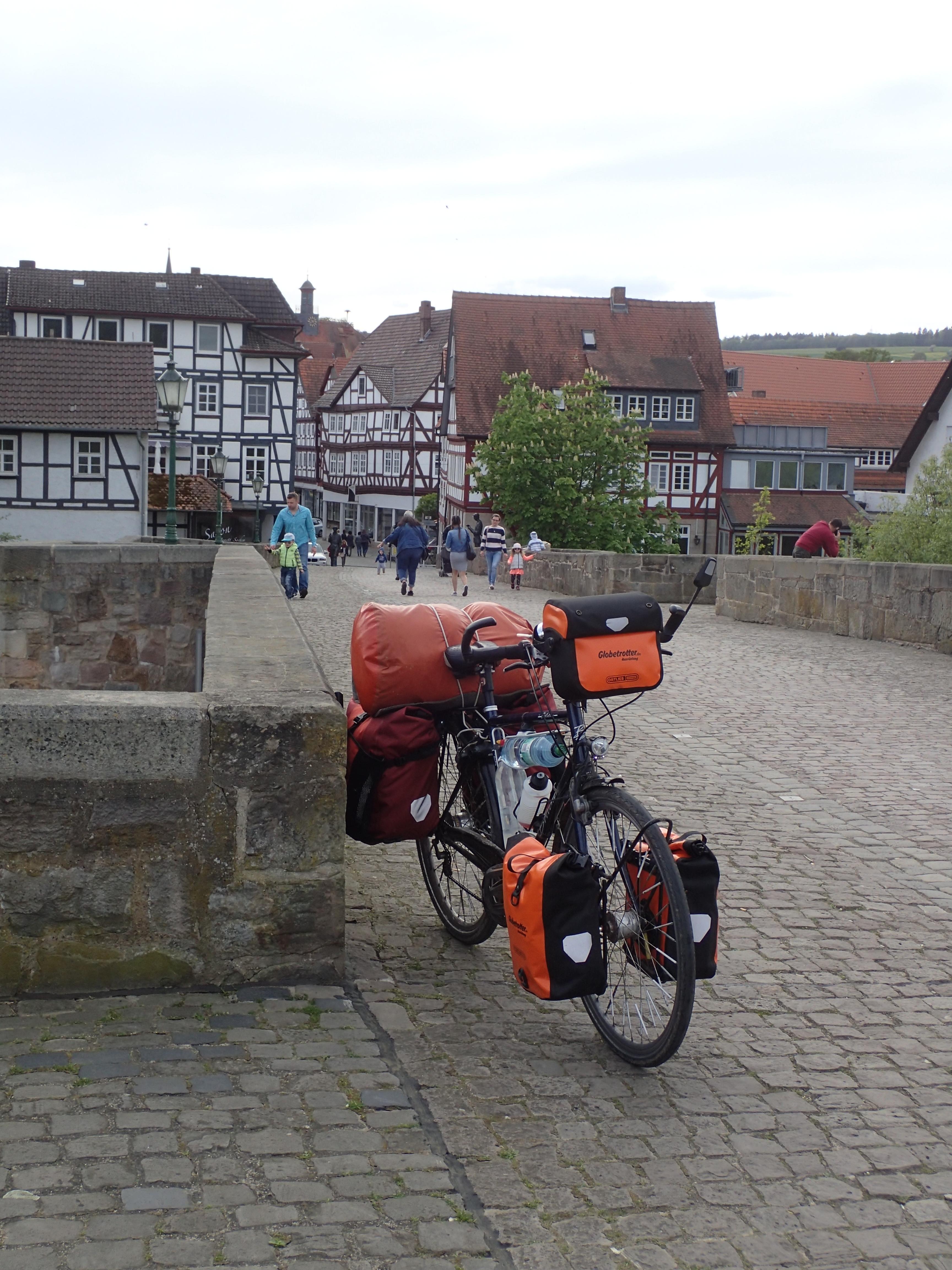 historische Brücke in Melsungen