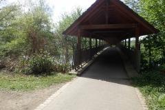überdachte Brücke über die Fulda