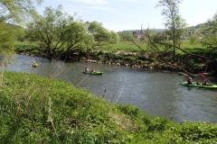 die Kanuten nutzten auch das Schöne Wetter