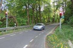 aussergewöhnliche Verkehrsregelung zur Sicherheit der Radfahrer