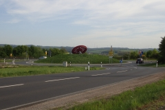 Dekoration auf einem Kreisverkehr