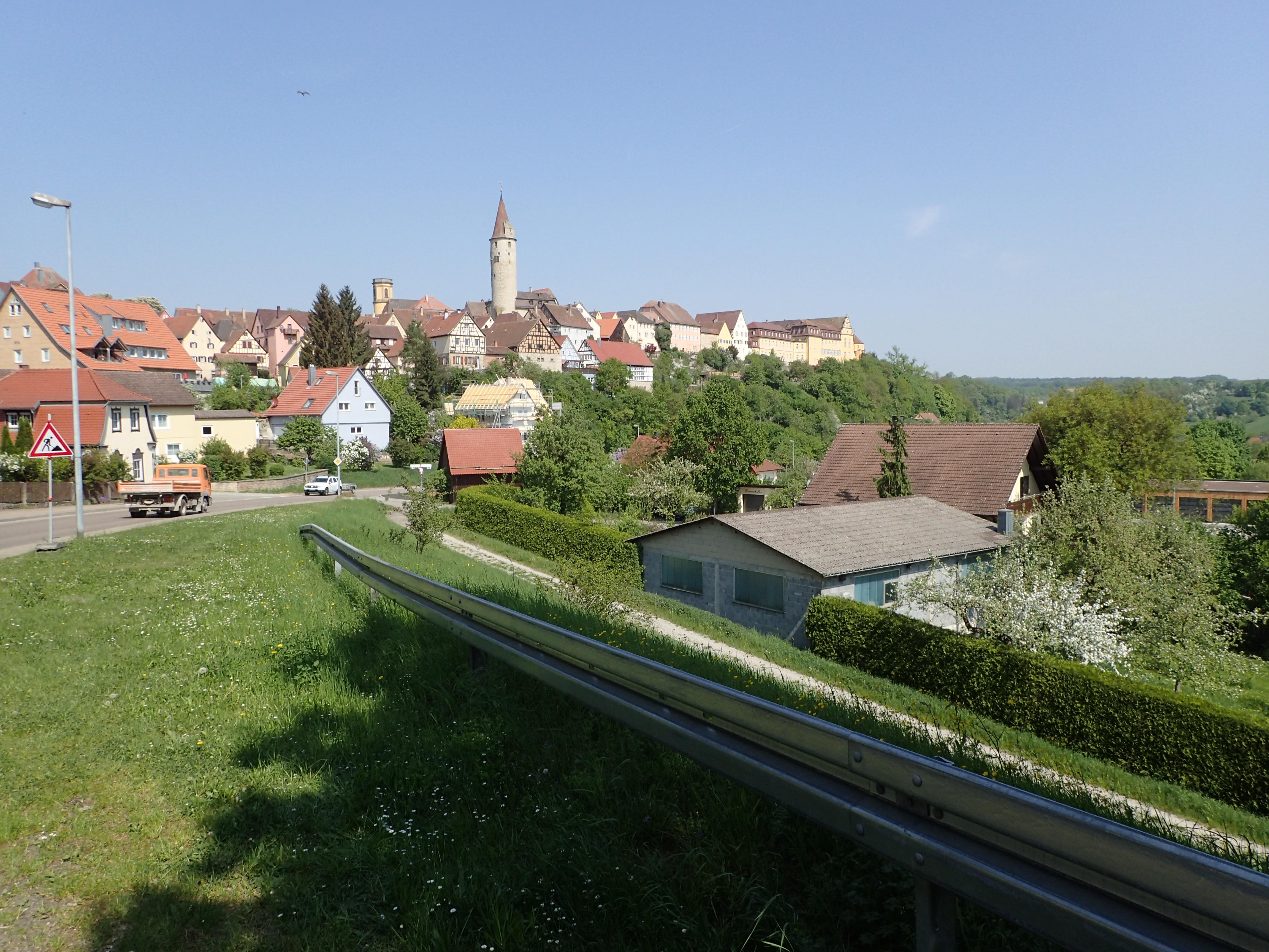 Rückblick nach Kirchberg an der Jagst